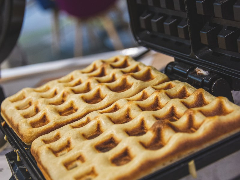 Brownie wafels recept